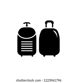Travel Bag Icon Vector in Trendy Flat Style on White Isolated Background. EPS 10.
