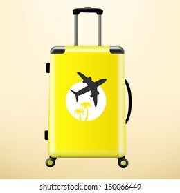 Travel bag with sticker