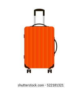 Travel bag vector illustration. Summer time, vacation
