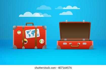 Travel bag vector illustration. Vacation design template