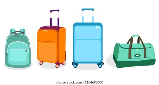 Travel Bags Suitcases Icon Vector Illustration