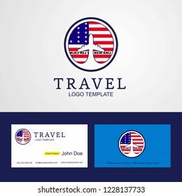 Travel Bikini Atoll Creative Circle flag Logo and Business card design