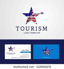 Travel Bikini Atoll flag Creative Star Logo and Business card design