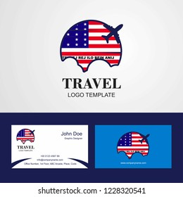 Travel Bikini Atoll Flag Logo and Visiting Card Design