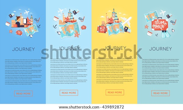 Travel By Car Russia Usa Japan Stock Vector (Royalty Free