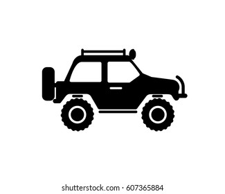 travel car vector icon on white background