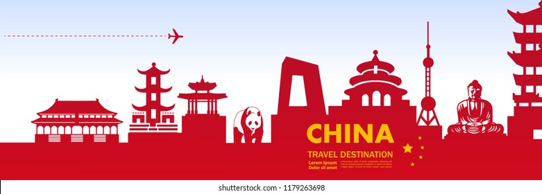 Travel To China Vector illustration.