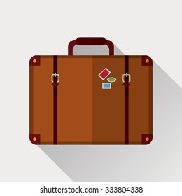 Travel concept with suitcase icon design, vector illustration 10 eps graphic.