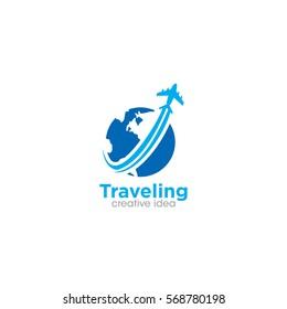 Travel Creative Concept Logo Design Template