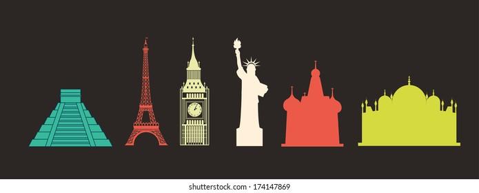 travel design over black background vector illustration