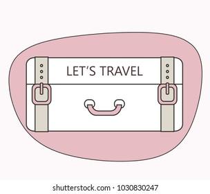Travel design with suitecase