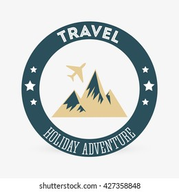 Travel design. trip icon. Isolated illustration, editable vector
