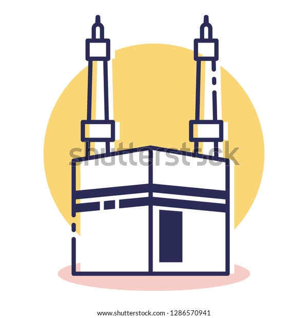 Travel and Destination Kabah Icon - Travel and Destination with Outline Style