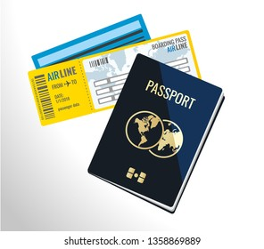 Travel documents illustration