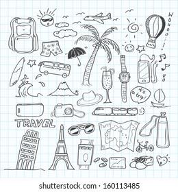 travel doodle