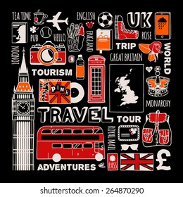 Travel to England set.