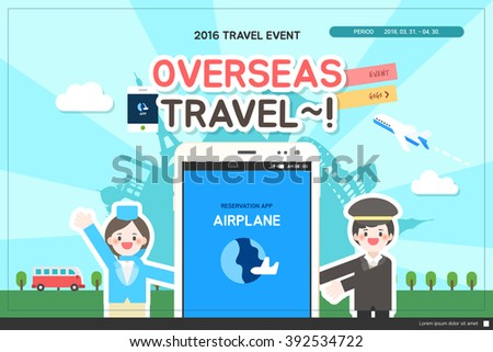 travel event template stock vector royalty free 392534722