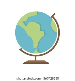 Travel globe flat vector icon that shows concept such as adventure, journey, navigation, geography, can be use for personal or commercial use