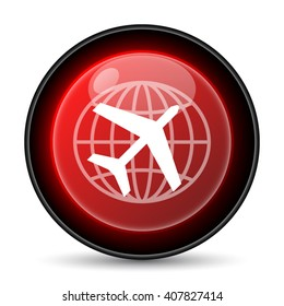 Travel icon. Internet button on white background. EPS10 vector