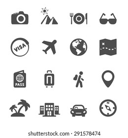 travel icon set 4, vector eps10.