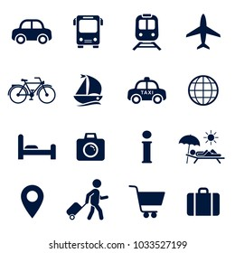 Travel Icon Set. Vector isolaed vacation tourism sign collection.