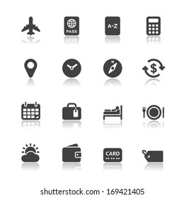 Travel Icons for application with White Background