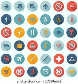 Travel Icons Set - Tourism Infographics - flat design vector EPS10