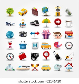 Travel icons symbol collection. Vector illustration