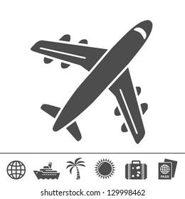 Travel icons. Vector illustration