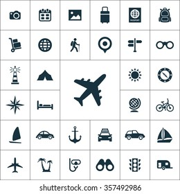 travel Icons Vector set