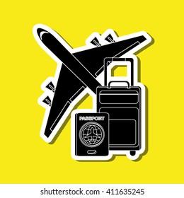Travel illustration design, editable vector