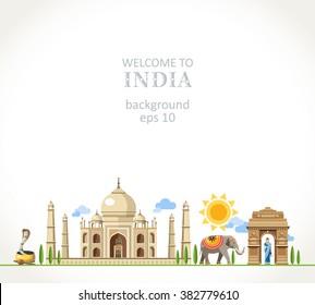 travel India panorama background