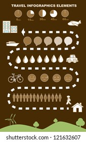travel  infographics, elements and icons