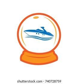 Travel insurance-ship in the magic ball