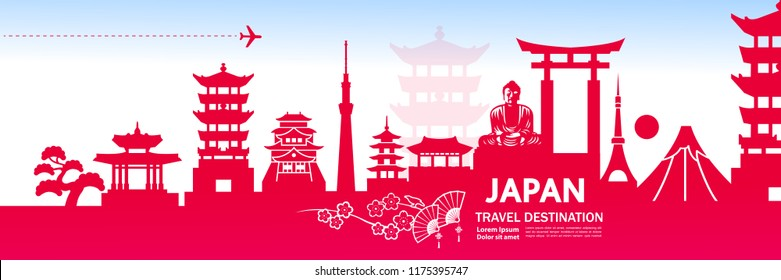 Travel To Japan Vector illustration.