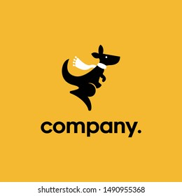 Travel + Kangaroo Logo Concept. Artsy, Professional and Clean Logo. Suitable for all types of business.