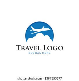 Travel Logo. Airplane design, airplane tickets, travel agencies