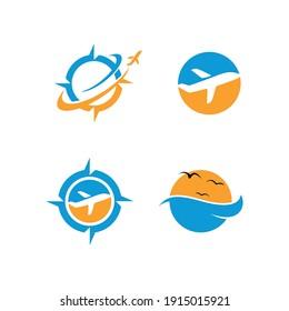 Travel logo design. Airplane Logo Vector