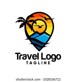 Travel logo icon vector design illustration