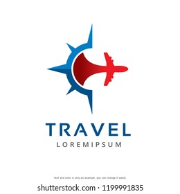 Travel Logo Template Design Vector, Emblem, Concept Design, Creative Symbol, Icon