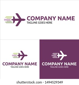 Travel Logo Vector Template Design. Aviation sign. Eps 10