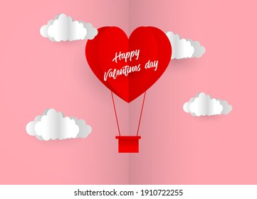 Travel of love. happy valentines day . heart vector . valentine's Day Vectors