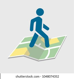Walking Distance Stock Vectors, Images & Vector Art ... on map of kerala, map of texas with mileage, map maps, map travel, map design, map longitude, map of all montana towns, map state, map language, map key legend, map orientation, map region, map clock, map of texas speed limits, map history, map making, map date, map online, map my run, map of irish hills michigan,