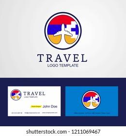 Travel Nagorno Karabakh Republic Creative Circle flag Logo and Business card design