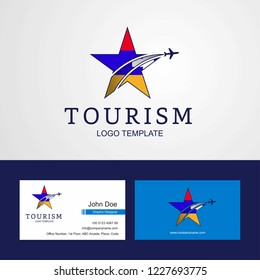Travel Nagorno Karabakh Republic flag Creative Star Logo and Business card design