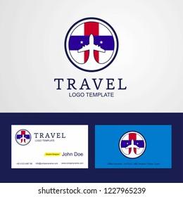 Travel Netherlands Antilles Creative Circle flag Logo and Business card design