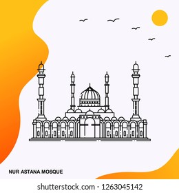 Travel NUR ASTANA MOSQUE Poster Template