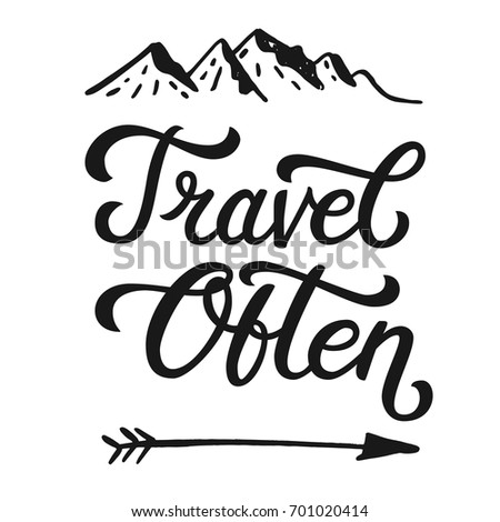 Travel Often Life Style Inspiration Quotes Stock Vector Royalty