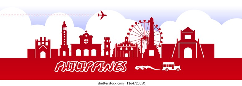 Travel To Philippines Vector