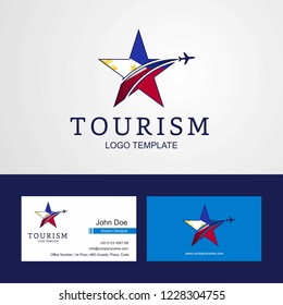 Travel Phillipines flag Creative Star Logo and Business card design